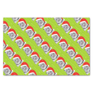 Christmas tiger tissue paper