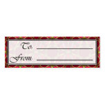 Christmas Tile Gift Tag 4-8-2 Business Card Templates