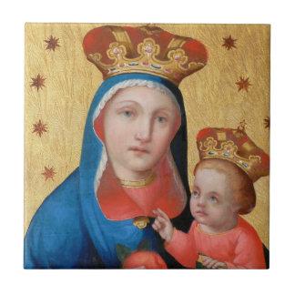 Christmas Tile Madonna and Child