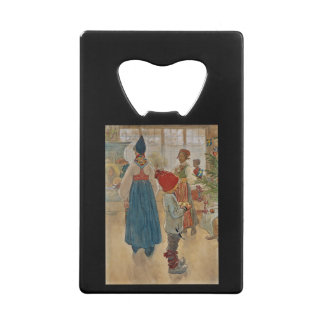 Christmas Time Again Julaftonen Credit Card Bottle Opener