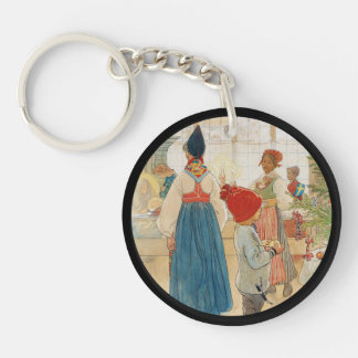 Christmas Time Again Julaftonen Keychain