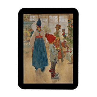 Christmas Time Again Julaftonen Rectangular Photo Magnet