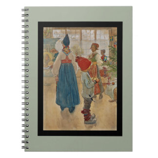 Christmas Time Again Julaftonen Spiral Notebook