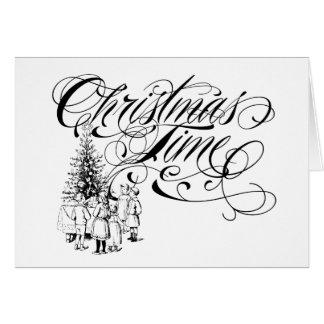Christmas Time Custom Greeting Card