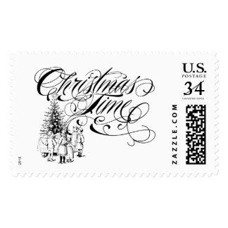 Christmas Time Custom Postage Stamp