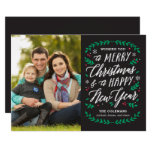Christmas Time Editable Color Holiday Card at Zazzle
