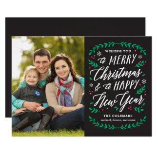 Christmas Time EDITABLE COLOR Holiday Card