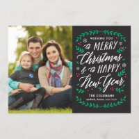 Christmas Time EDITABLE COLOR Holiday Card