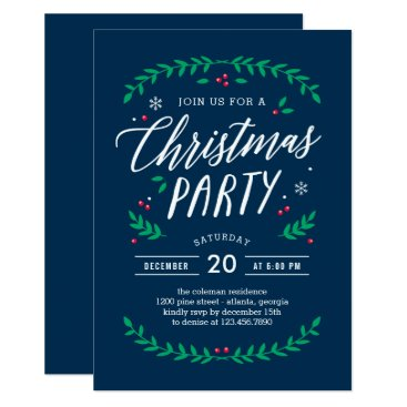 Professional Business Christmas Time EDITABLE COLOR Party Invitation