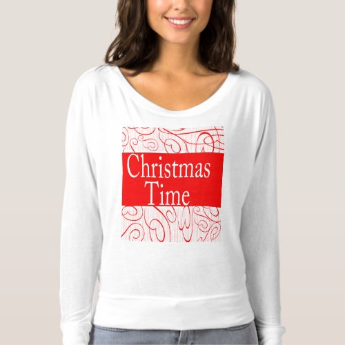 Christmas Time flakes decoration T-shirt After Christmas Sales 5169