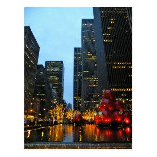 Christmas Time NYC Postcard