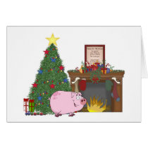 Christmas Time Pig Card
