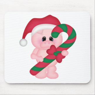 Christmas Time Pig Mouse Pad