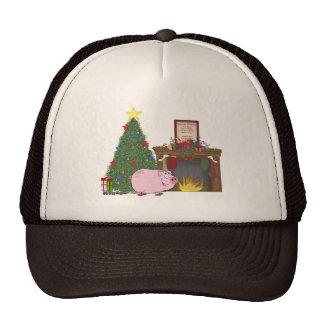 Christmas Time Pig Trucker Hat