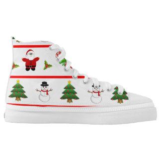 Christmas time printed shoes