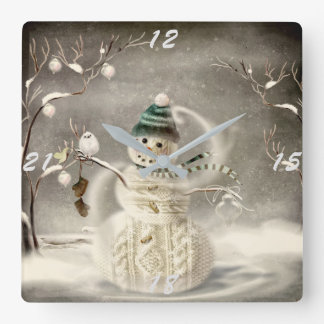 Christmas Time Square Wall Clock