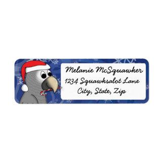 Christmas Timneh African Grey Custom Return Address Labels