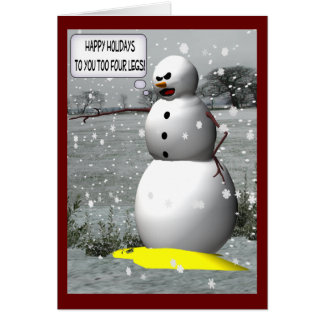 """""""Christmas Tinkle"""" Snowman Holiday Greeting Cards"""