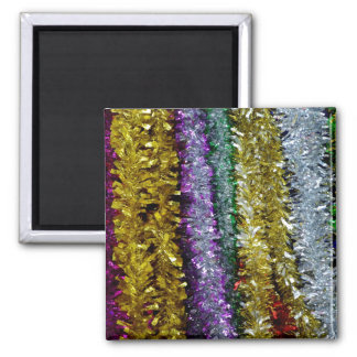 Christmas Tinsel Fridge Magnets