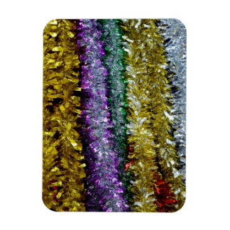 Christmas Tinsel Rectangular Magnets