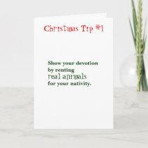 Christmas Tips Holiday Card