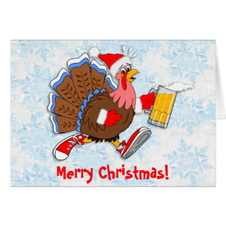 Christmas Tipsy Turkey (Beer) Card
