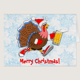 Christmas Tipsy Turkey (Beer) Card