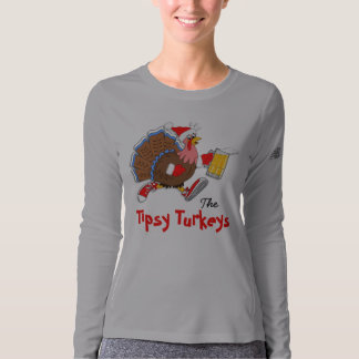 Christmas Tipsy Turkey (Beer) - LS New Balance T-shirt