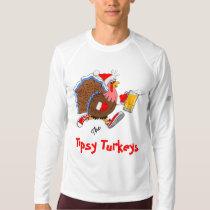 Christmas Tipsy Turkey (Beer) - LS New Balance T-shirt