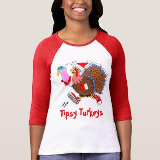 Christmas Tipsy Turkey (Cocktail) - 3/4 Raglan T-Shirt