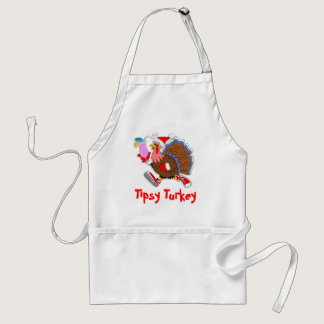 Christmas Tipsy Turkey (Cocktail) Adult Apron