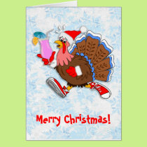 Christmas Tipsy Turkey (Cocktail) Card