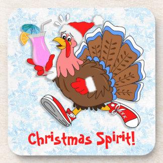 Christmas Tipsy Turkey (Cocktail) Drink Coaster