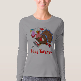 Christmas Tipsy Turkey (Cocktail) - LS New Balance T-shirt