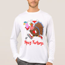 Christmas Tipsy Turkey (Cocktail) - LS Sport-Tek T-Shirt