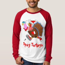Christmas Tipsy Turkey  LS Raglan T-Shirt