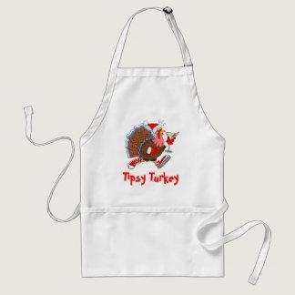 Christmas Tipsy Turkey (Martini) Adult Apron