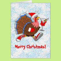 Christmas Tipsy Turkey (Martini) Card