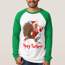 Christmas Tipsy Turkey (Martini) - LS Raglan T-Shirt