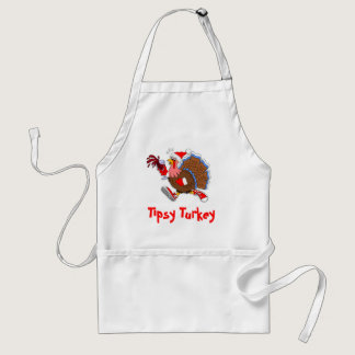 Christmas Tipsy Turkey (Wine) Adult Apron
