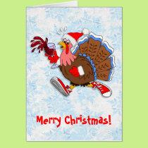 Christmas Tipsy Turkey (Wine) Card