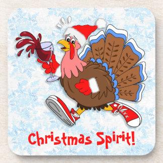 Christmas Tipsy Turkey (Wine) Coaster