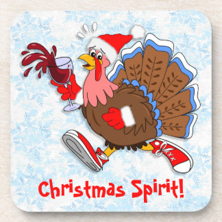 Christmas Tipsy Turkey (Wine) Coaster