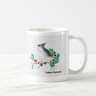 christmas titmouse, Tufted Titmouse Coffee Mug