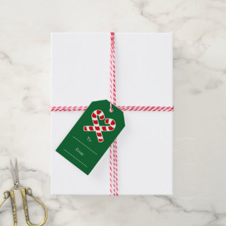 Christmas to and from gift labels with string pack of gift tags