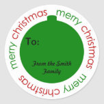 "Christmas to and from stickers<br><div class=""desc"">Christmas to and from stickers.</div>"