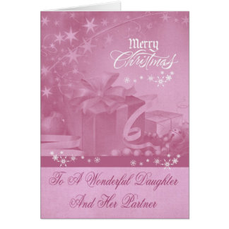 Christmas To Daughter And Partner Greeting Card