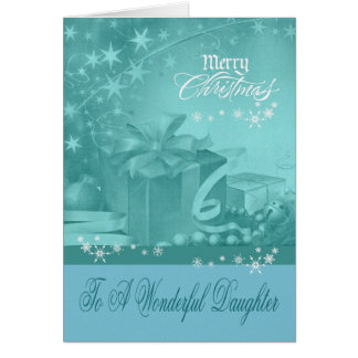 Christmas To Daughter greeting card
