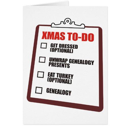 Christmas To-Do List Card