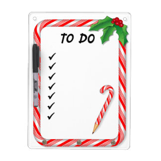 Christmas To Do List Dry-Erase Board